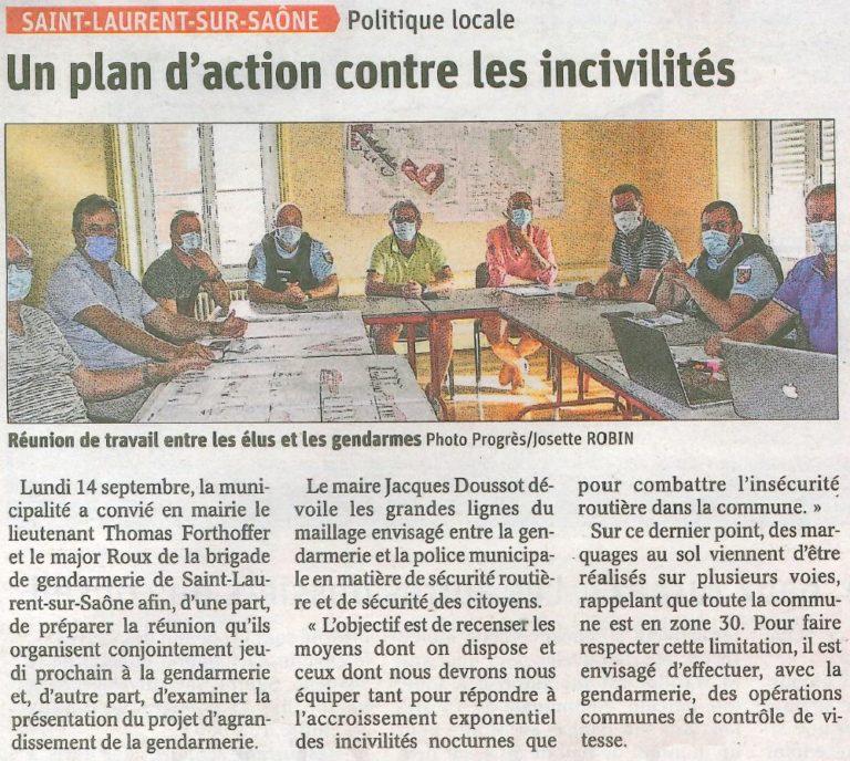 Un plan d'action contre les incivilités