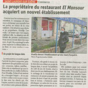 2020.11.12_la propriétaire du restaurant el mansour acquiert un nouvel etablissement_mairie de saint laurent sur saone
